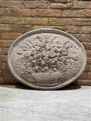 Stone Etched Flower Medallion