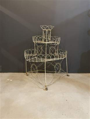 Late 1800s Victorian Wire Plant Holder