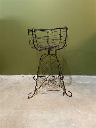 Late 1800s Victorian Wire Plant Holder #2