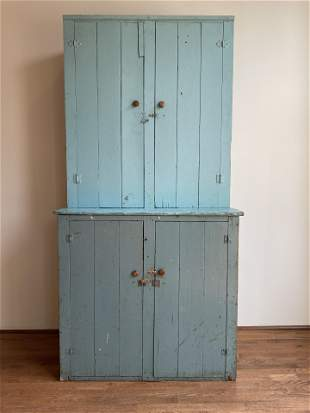 Vintage Primitive Farmhouse Cupboard Original Paint