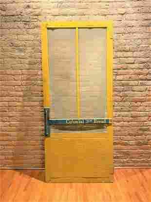 Rare Original Vintage General Store Advertising Door