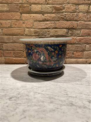 Chinese Famille Porcelain Planter