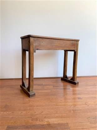 Primitive European School Desk Console