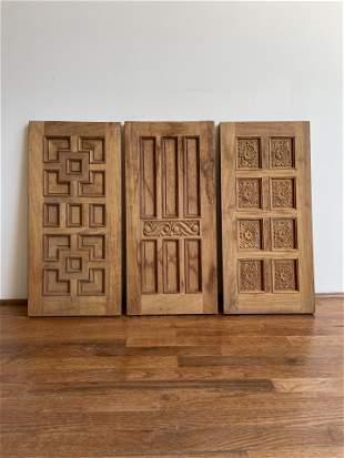Rare Set 3 Salesman Sample Architectural Door Panels