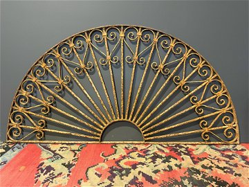 19th C. French Architectural Cast Metal Arch