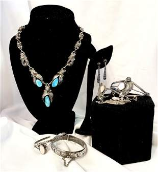 Collection Southwestern Sterling Jewelry Squash Blossom