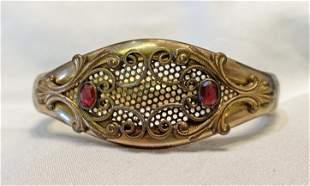Victorian Hinged Bangle Bracelet Dated December 25,