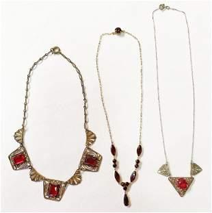 Art Deco Czech Glass Necklaces