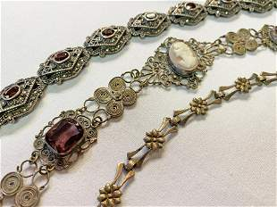 Collection 3 Victorian Silver Bracelets