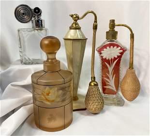 Collection Art Deco Perfume Bottles Marcel Franck,