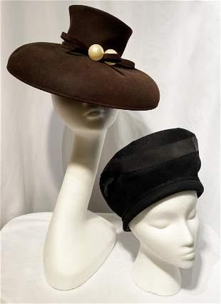2 World War 2 Era Ladies Hats