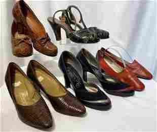 Collection World War 2 Era Ladies Shoes Alligator
