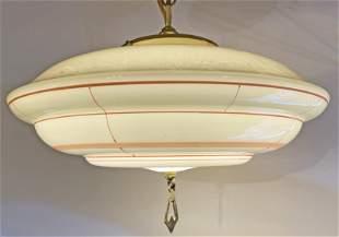 1930s Art Deco Glass Light Fixture