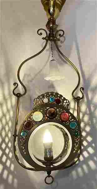 Victorian Jeweled Light Fixture