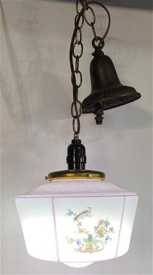 Art Deco Asian Inspired Chinoiserie Style Light Fixture