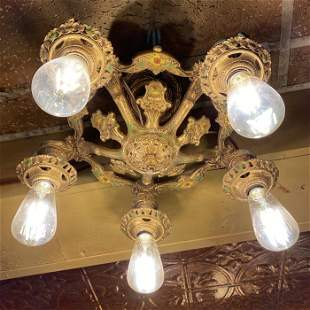 Early 1920s Antique Ornate Lamp Fixture