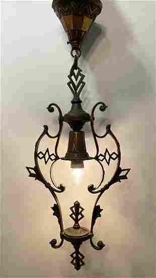 1920s Art Deco Porch Light