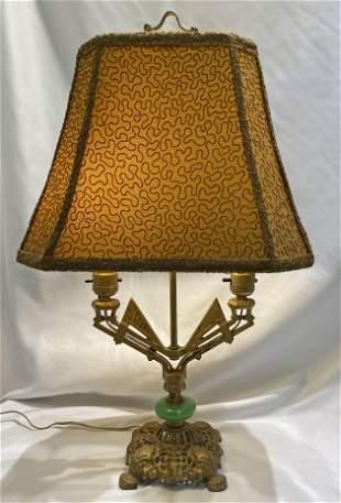 Art Deco Table Lamp green jadeite