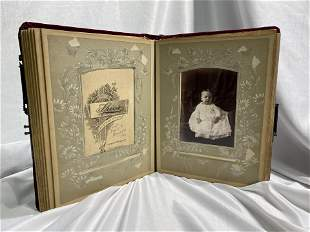 Beautiful Victorian Celluloid Lovers Photo Albums