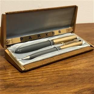 Parker 51 14k gf Pen Pencil Set in box