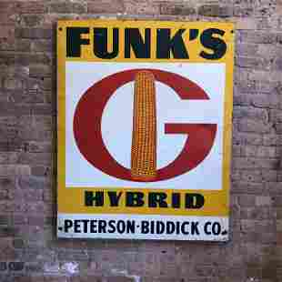 Old Advertising Sign Farm Funk's Hybrid
