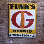 Old Advertising Sign Farm Funk's Hybrid