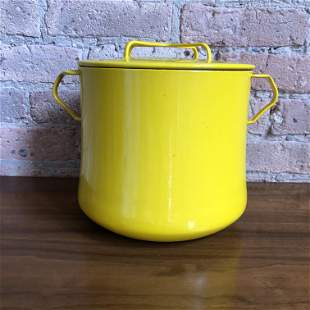 Large Dansk Pop Art Yellow Stock Pot France