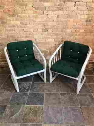 Pair Mid Century Patio Chairs imo Brown Jordan