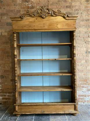 Provencial French Pine Open Shelf Bookcase