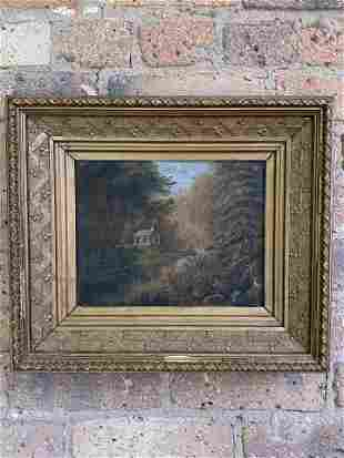 Antique Landscape Oil on Canvas Signed
