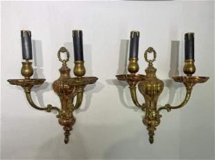 Pair Ornate Victorian Sconces