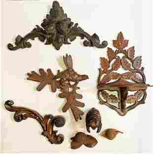 Collection Ornate Victorian Carved Wood Articles