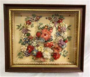 Exceptional Victorian Floral Mourning Wreath in