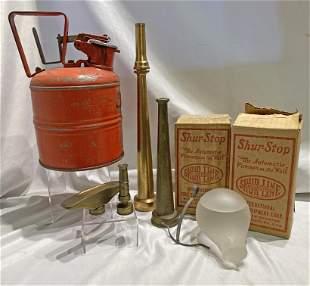Collection Antique Brass Fire Nozzle Extinguisher Balls