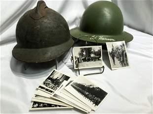 WW2 Helmet & Photos
