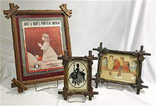 3 American Walnut Victorian Frames
