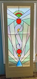 Art Deco Stained Glass Door