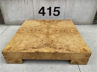 Milo Baughman Burled Wood Coffee Table