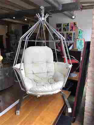 Ib Arberg 1970s Parrot Cage Swing Chair hammock seat