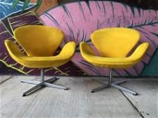 Pair Arne Jacobsen Swan Chairs