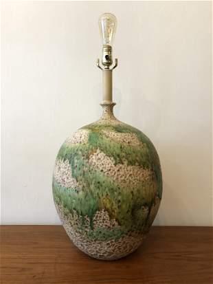 Mid Century Ovesized Ceramic Pottery Lamp