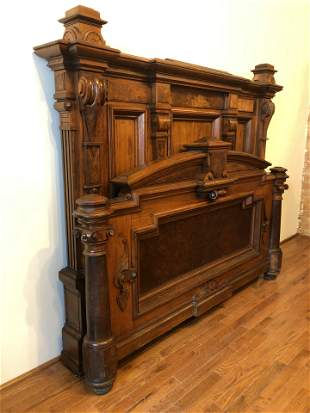IMO Herter Brothers Victorian Walnut Bed