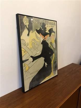 Vintage Lautrec Framed Poster Limited Edition