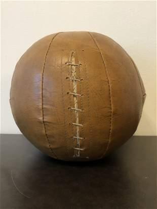 Antique Leather Medicine Ball