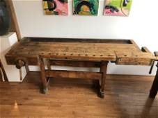 Antique Carpenters Work Bench Early 1900's