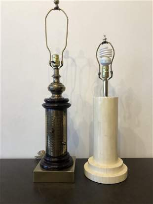 Pair of Lamps French and Marble