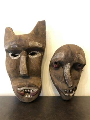 African Mask Carved Wood