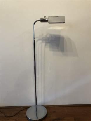 Koch and Lowey Chrome Adjustable Floor Lamp