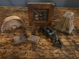 Collection Antique Wood Architectural Elements