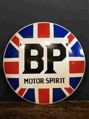 Enamel BP Motor Advertising Button Sign